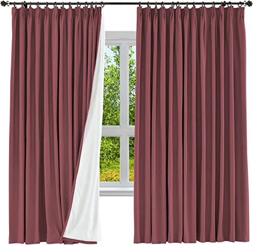 cololeaf Extra Wide and Long Drape Solid Cotton Linen Blend Curtain Blackout Curtain Pinch Pleated Bedroom Living Room Sliding Door Panel Review