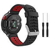 Amazon Price History for:Garmin Forerunner 235 Watch Band, MoKo Soft Silicone Replacement Watch Band for Garmin Forerunner 235 / 220 / 230 / 620 / 630 / 735 Smart Watch - Black & Red