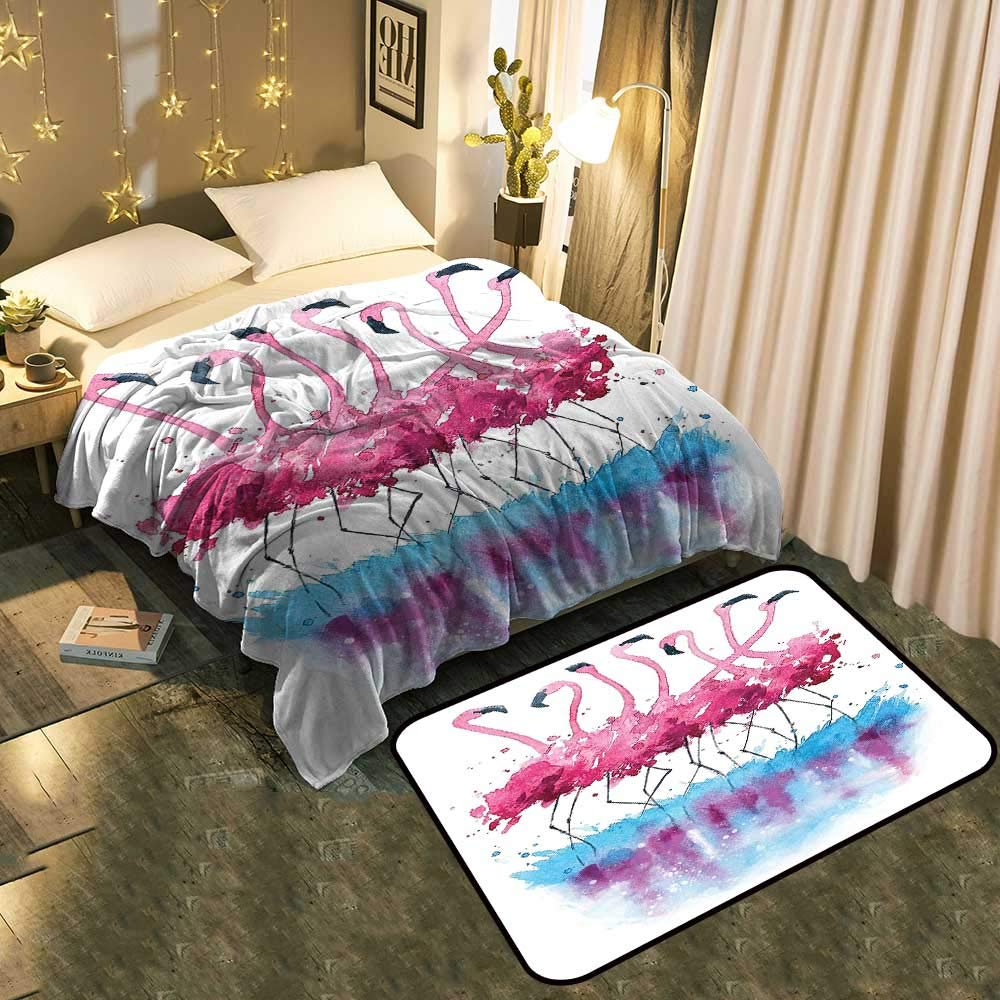 color01 Blanket 70 x90  Mat 39 x19  Bedside Blanket Doormat suitCute Red Eyed Frog Between Exotic Macro Big Leaves Wild Nature Night Animal Cozy and Durable Blanket 60 x78  Mat 5'X8'