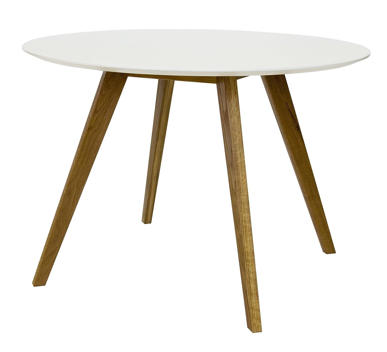 Esstisch rund weiß eiche  Tenzo 2181-001 Bess - Designer Esstisch rund, weiß, Tischplatte ...