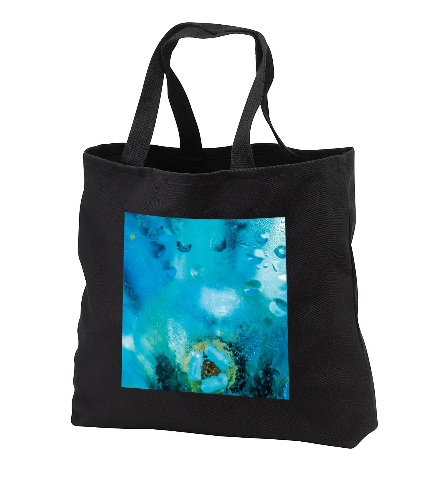 Alexis Photography - Abstracts - Image of Colorful misted glass, low energy light bulb visible - Tote Bags - Black Tote Bag JUMBO 20w x 15h x 5d (tb_283998_3)