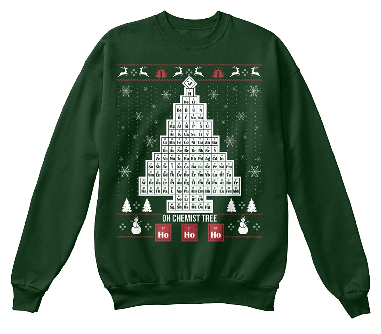 Amazon.com: Teespring Unisex Chemist Tree Hanes Crewneck Sweatshirt: Clothing