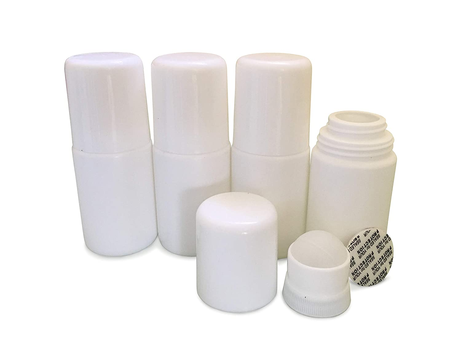 MagicHappens Empty Refillable Roll On Bottles – Recyclable 50ml Leak-Proof  DIY Deodorant Containers