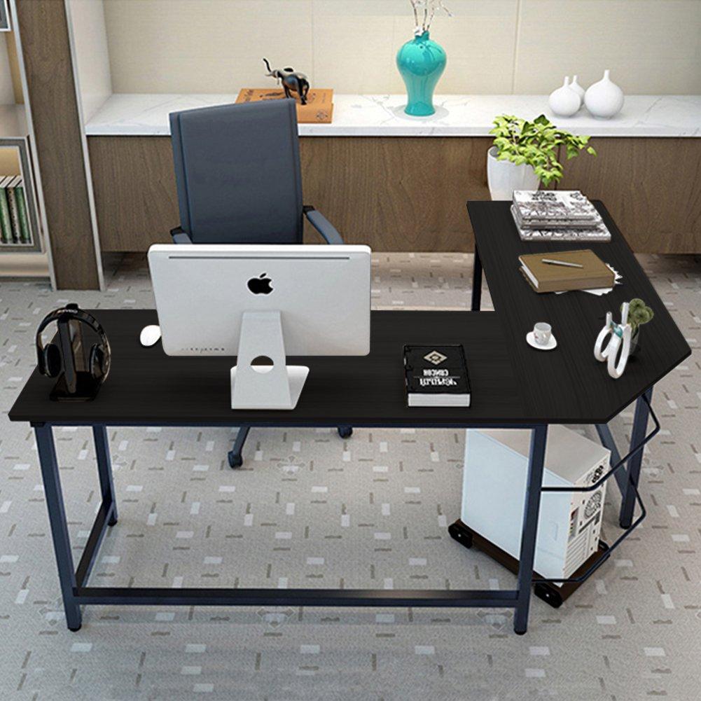 L Shaped Modern Desk Amazoncom Tribesigns Modern L Shaped Desk Corner Computer Desk