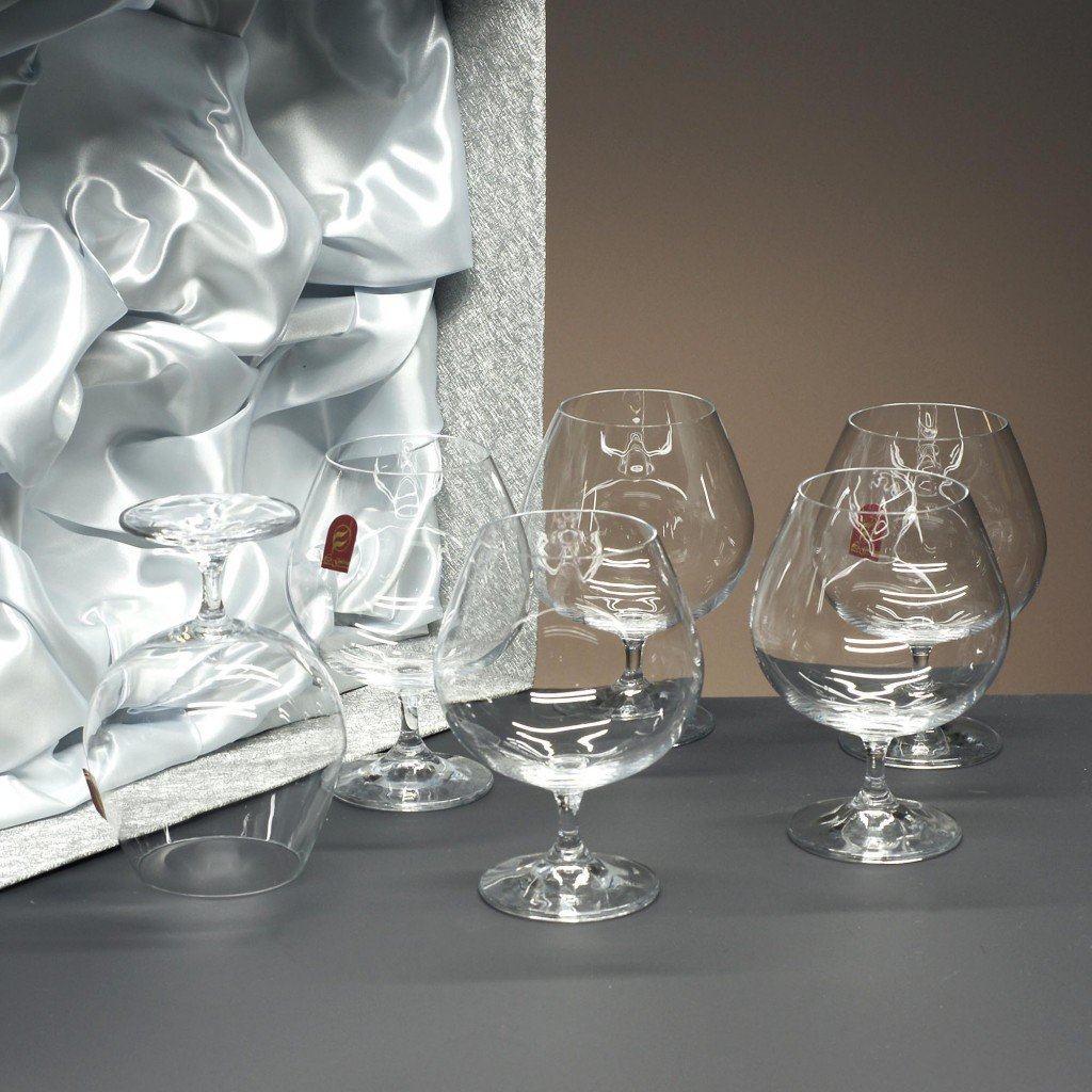 la galaica Set/Confezione 6 calici in cristallo da cognac o brandy, collezione GASTRO.