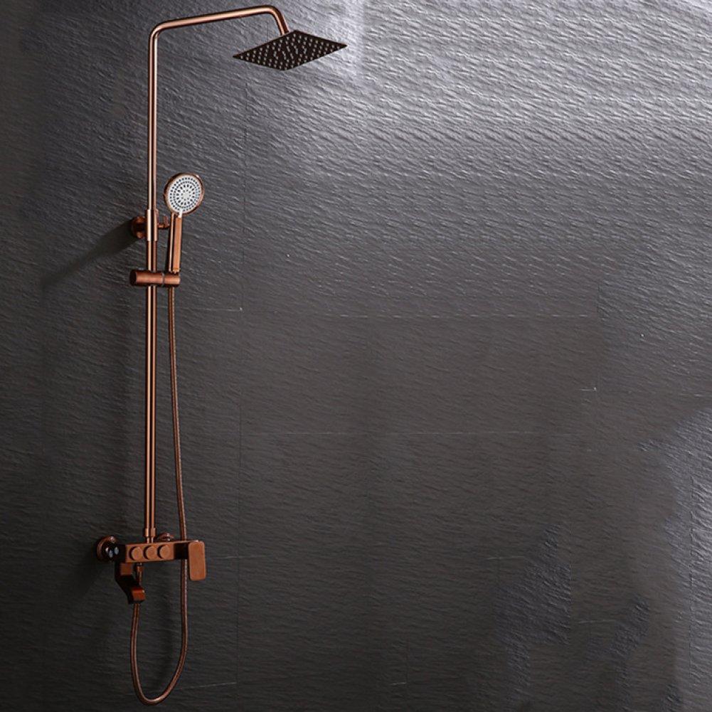 SMQ Dusche Set Europäische Europäische Europäische Antik Rosa Gold Quartet Dusche Wasser Wand Hot Hot Bad Dusche Set B07DZQB6L9 Duschabzieher 059d6e