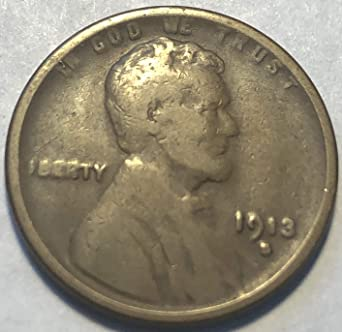 1913-P Lincoln Wheat Cent   g-vg     free shipping