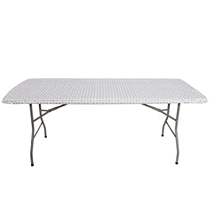 Tablecloth For 8ft Folding Table  Fitted Rectangular Table Cloth For 8Foot  U2013 Size 32 X
