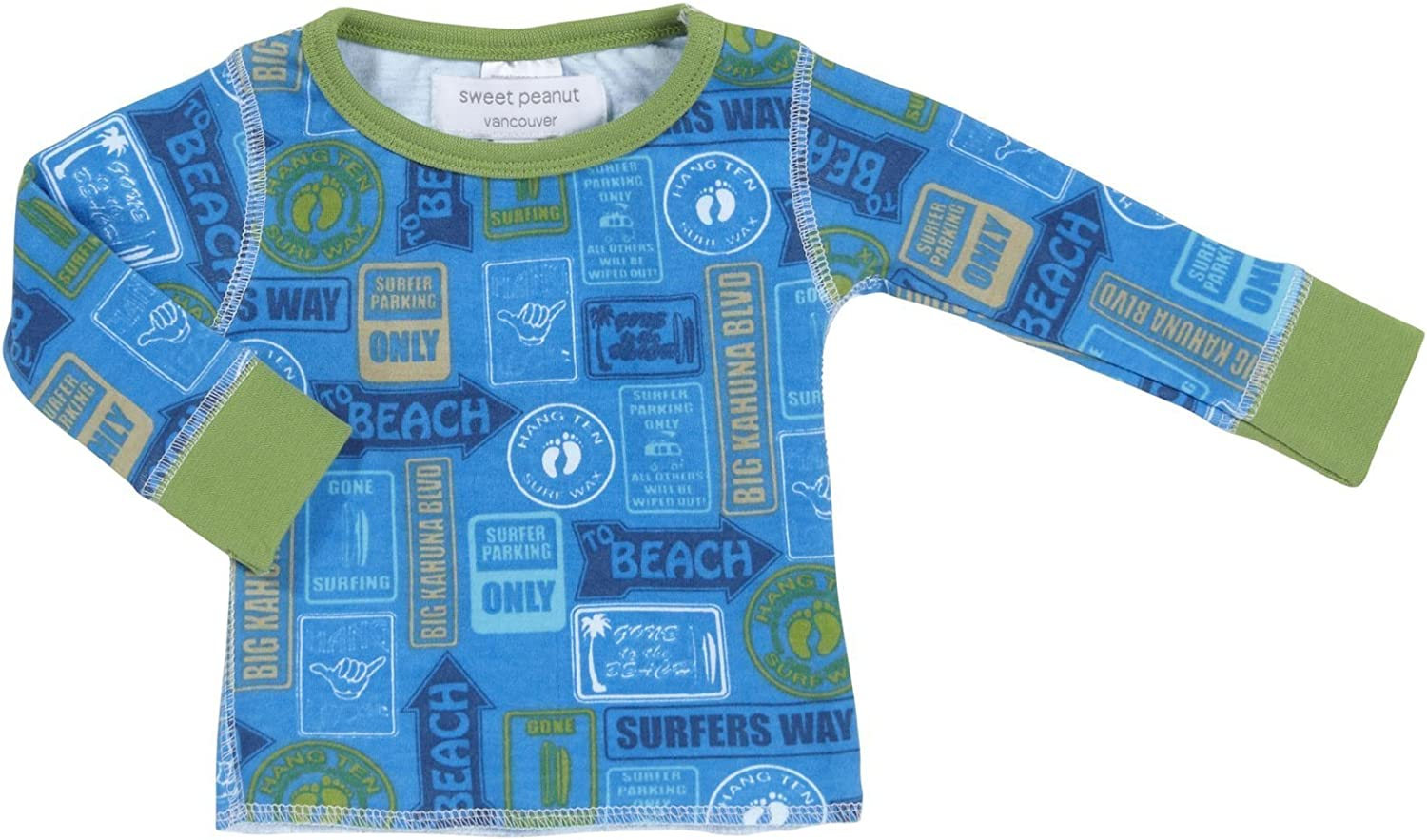 Baby The Beach is that Way Sweet Peanut Baby Boys Shirt