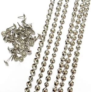 Let's Decorate 10 Meters D9.5mm Nickel Plated Decorative Nail Strips/Nailhead Trims,Upholstery Sofa Tacks,Loosing Tacks Matched (A:9.5mm Nickel)