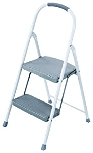 Rubbermaid RMS-2 2-Step Steel Step Stool, 225-pound Capacity, White