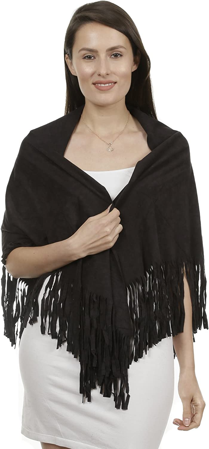 Fringe Sleeveless Faux Suede Vest Cardigan Jacket Outwear Top