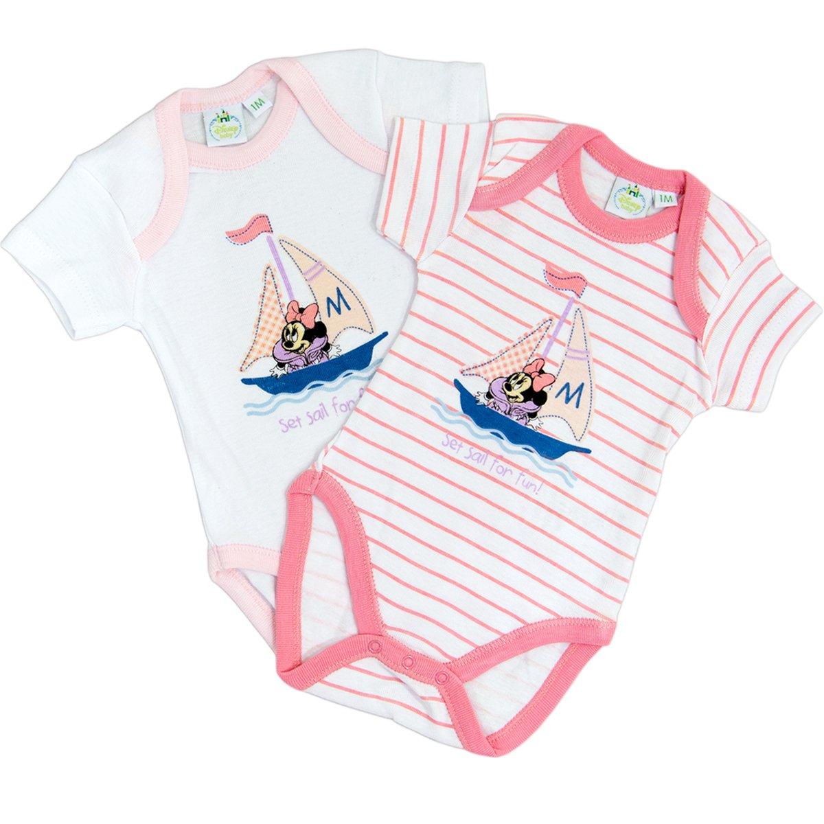 Minnie Confezione 2 body neonata mezza manica puro cotone DISNEY art. WD101055R DSY-WD101055R