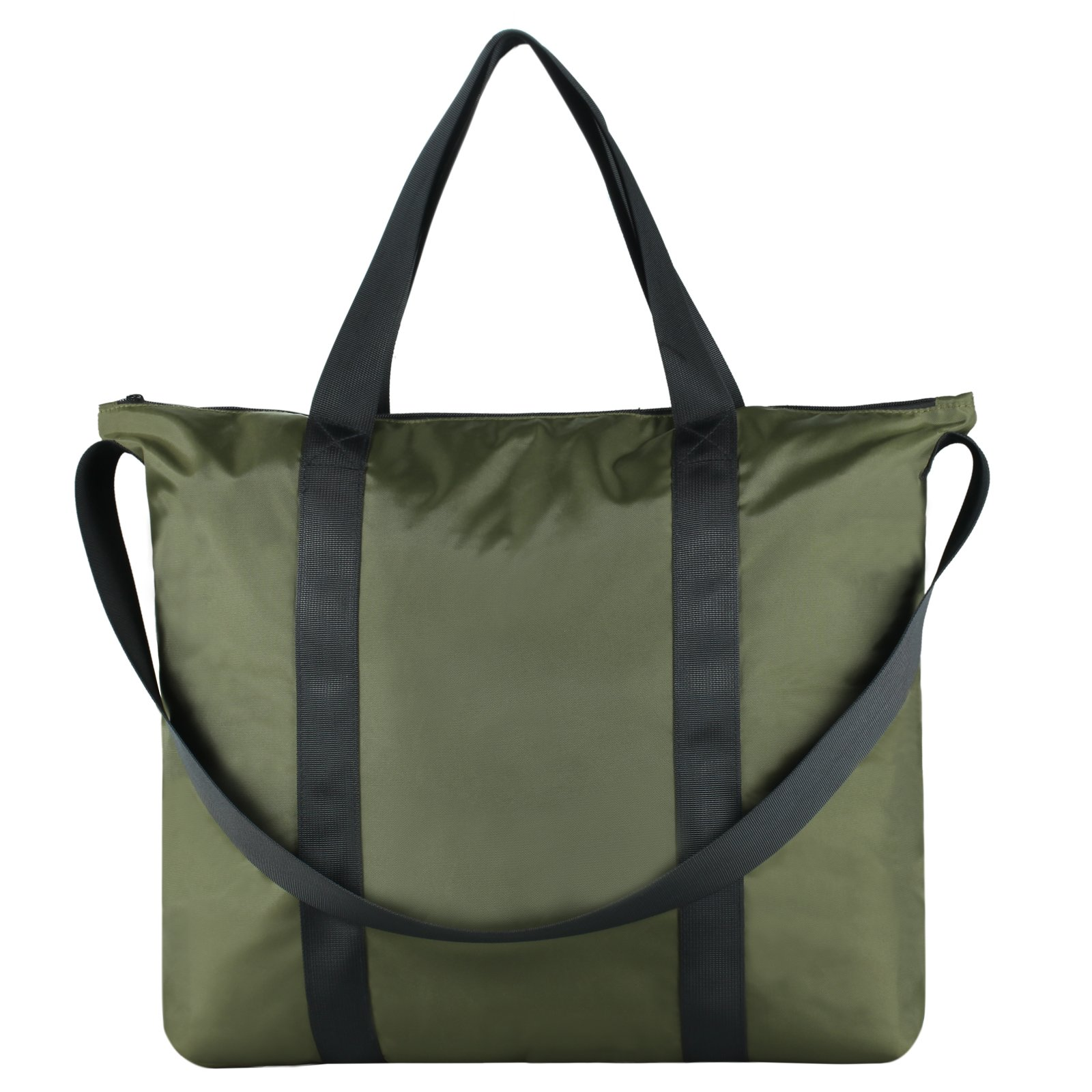 Gym Yoga Tote Bag with Shoulder Strap for Men Women, GOHIGH Big Sport Tote Accessory Fashion Shopping Bags for All Purpose Use, Greenery