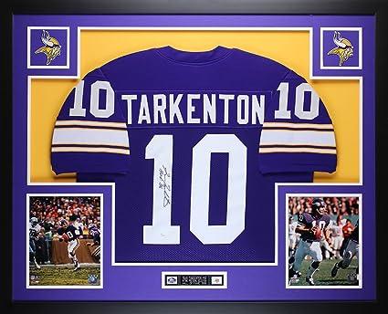 sale retailer 19753 90f51 Fran Tarkenton Autographed Purple Vikings Jersey ...