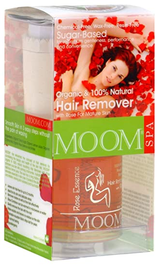 Amazon.com : Moom Organic Hair Removal Kit With Rose, 14-Ounce ...
