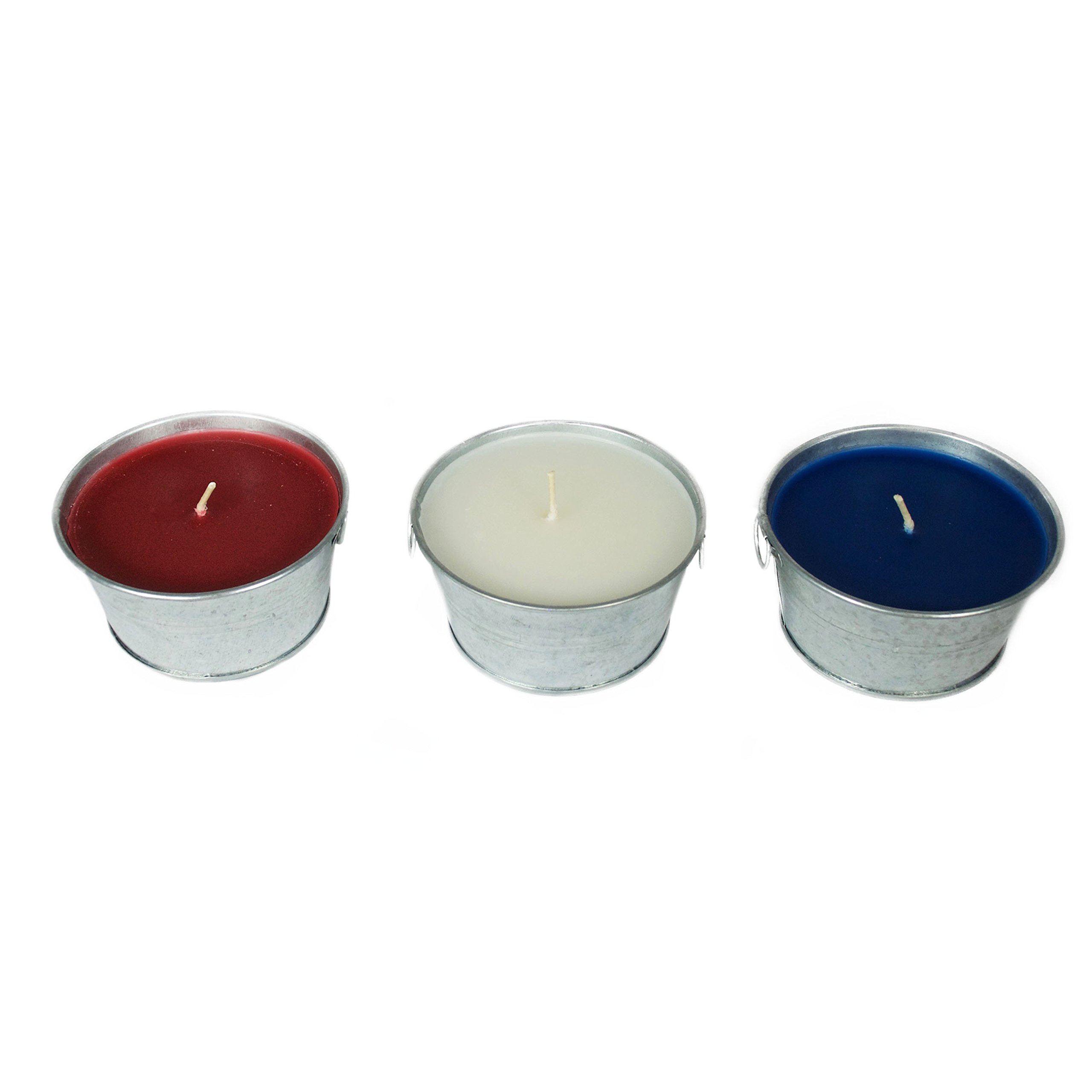 Patio Companion P09648 Outdoor Lighting and Bug Repellent Citronella Candle, Red, White and Blue