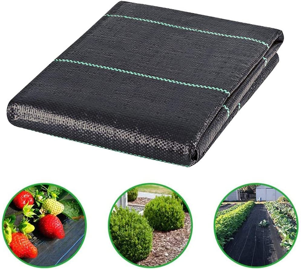 Premium Garden Weed Barrier Edging Fabric Durable /& Heavy-Duty Weed Block Gardening Mat for Flower Bed Black Pavers Garden Stakes Or Any Heavy Duty Outdoor Project Mulch