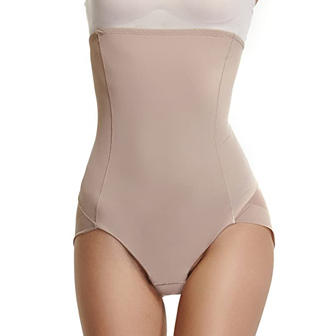 add393a11 Womens Underwear Briefs Control Panties High Waist Shapewear Body Shaper  Postpartum Girdle(Beige