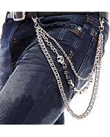 StillCool Biker Wallet Chain Punk Men Non-mainstream Cool Skull Punk Trouser Long Wallet Key Chain For Bike Jean Gothic Rock(Skull Style)