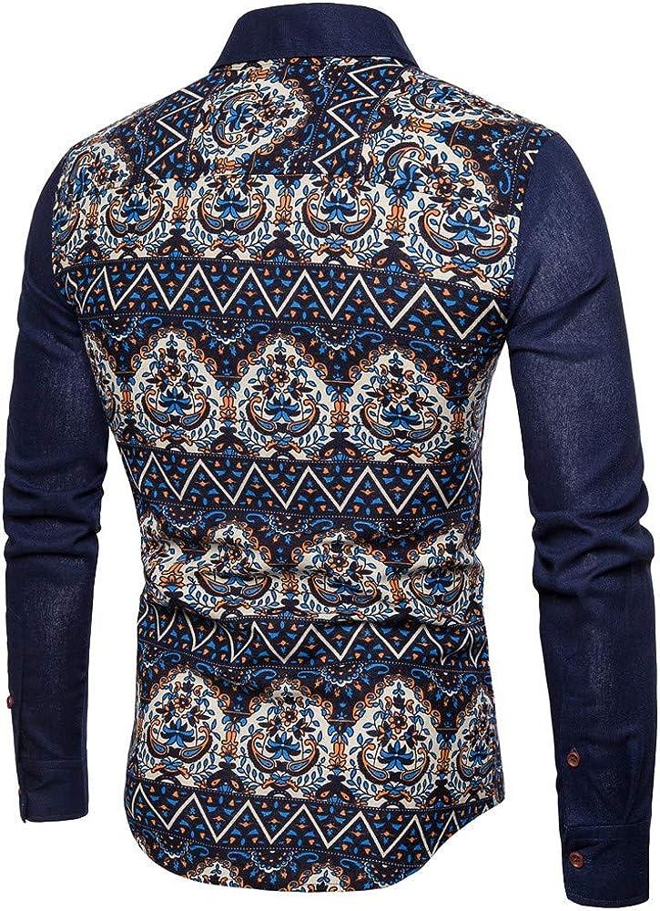 Camisas para Camisa De Manga Larga con Estampado Digital para Hombre Slim Joker Tibetan Youth M: Amazon.es: Ropa y accesorios