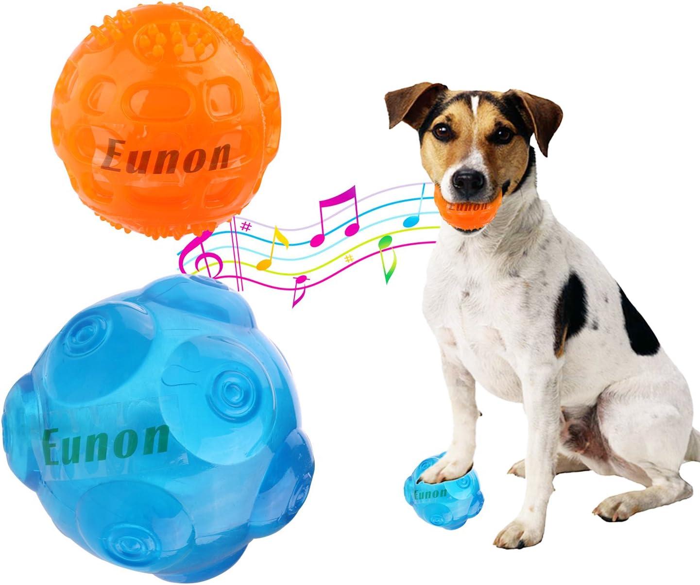 Eunon Pelota de perro de goma, resistente, pelotas indestructibles de goma, pelotas de entrenamiento para mascotas, pack de 2: Amazon.es: Hogar