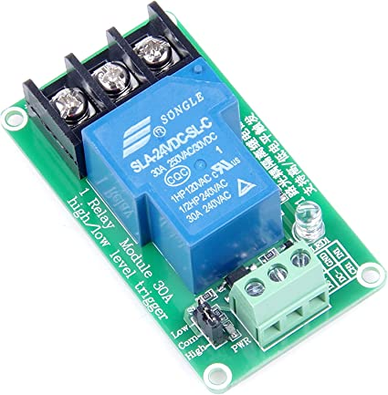 Stable New DC 24V TOP 1 Channel High Low Level Triger Optocoupler Relay Module