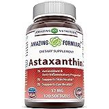 Amazing Formulas Astaxanthin Dietary Supplement - 12Mg - 120 Softgels (Non-GMO,Gluten Free) - Promotes Healthy Skin & Eyes - Powerful Antioxidant - Anti-Inflammatory Properties*