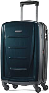 Samsonite Winfield 2 Hardside Expandable Luggage with Spinner Wheels, Teal, Checked-Medium 24-Inch