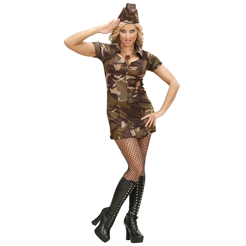 Widman S/70472- Disfraz de militar para mujer, M: Amazon.es ...