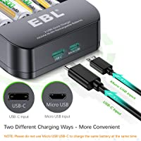 EBL Charger w/4 Pack NiMH AA Rechargeable Batteries