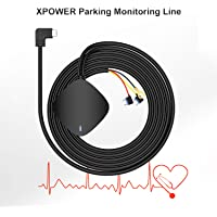 (Not Suitable for G840s) WOLFBOX Xpower Hardwire Kit for Dash Cam, Parking Monitoring Line, Mini USB Port, with Battery…