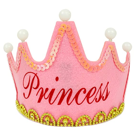 Sombrero con forma de corona de Princesa para fiestasde cumpleaños