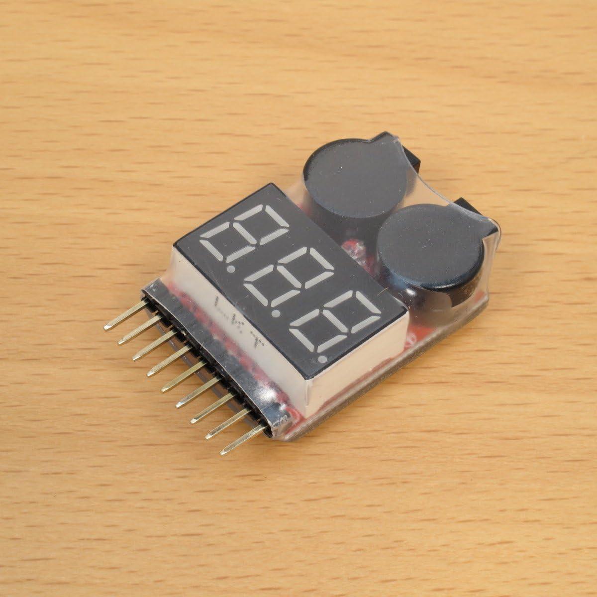 5PCS Lipo Battery Voltage Tester Volt Meter Indicator Checker Dual Speaker 1-8S