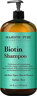 Majestic Pure Biotin Hair Shampoo - Hair Loss Shampoo for Thicker