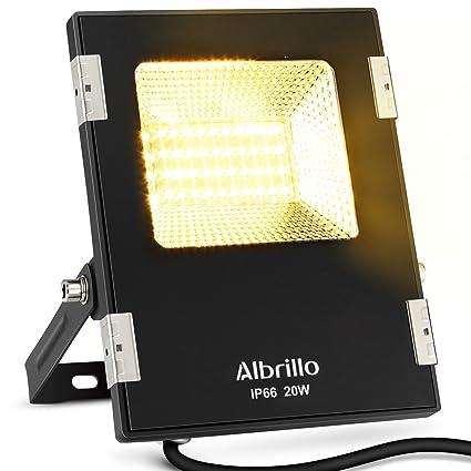 Albrillo LED Outdoor Flood Lights 20W, 150 Watt Equivalent, 3000K Warm  White, 1600