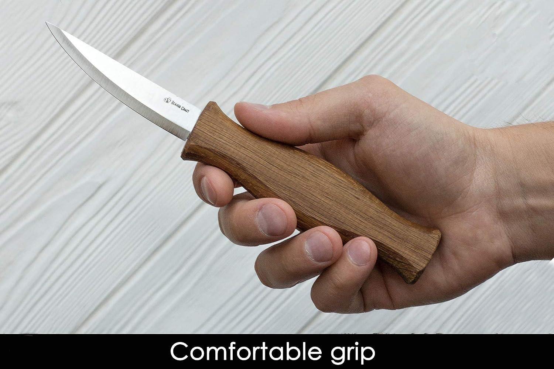 """BeaverCraft Sloyd Knife C4 3.14"""" Wood Carving Sloyd Knife"""