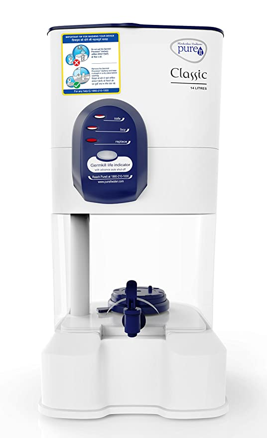 b285995f6aa Image Unavailable. Image not available for. Colour  Pureit Hul Classic 14- Litre Gravity Water Purifier