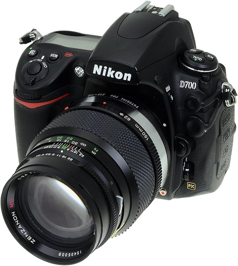 Fotodiox Anillo - Adaptador para objetivos de cámaras Nikon ...