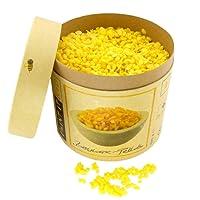 CIRE D'ABEILLE BIO 100 % PREMIUM pour le domaine cosmétique | Norme Europharm (Ph. Eur.) | 500 g de pure cire d'abeille – Pastilles | Pellets pour pommades, baume pour les lèvres, savons, crèmes, lotions et bougies | Granulat jaune