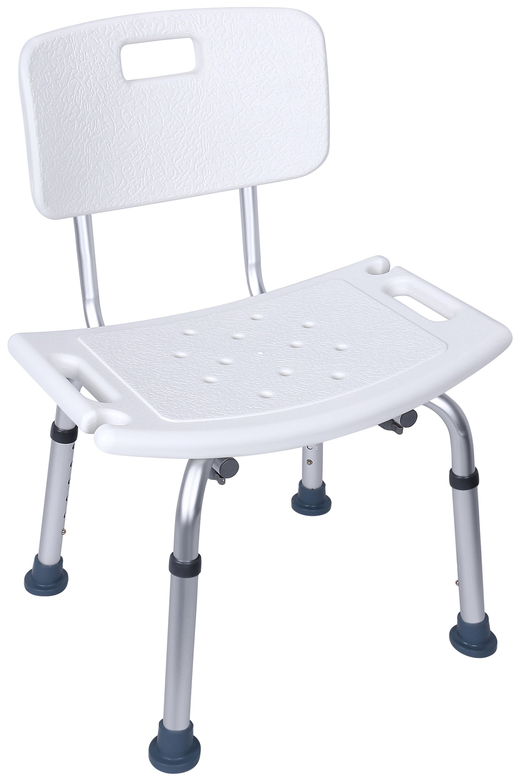 BalanceFrom Adjustable Height Bath Shower Tub Bench Chair with Removable Back