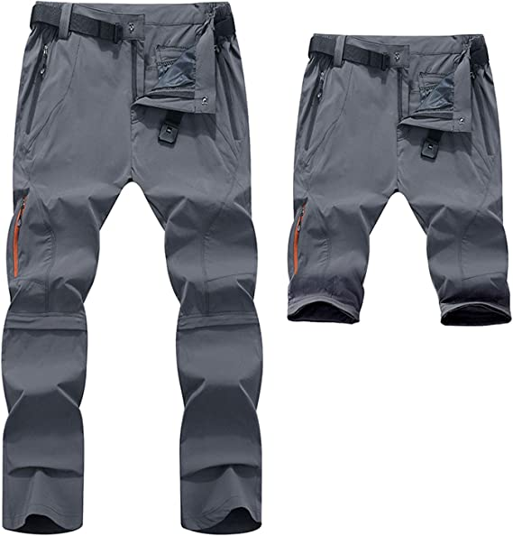 Freiesoldaten de los Hombres Pantalones de Senderismo Convertible Pantalones de Trekking Ligero Secado R/ápido Pantalones Cortos