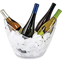 """True 2212 Ice Bucket Holder Chilling Tub for Indoor and Outdoor Use, Holds 4 Wine Bottles, 10.25"""", Clear"""