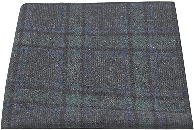 Tartan Dark Grey /& Green Check Pocket Square Tweed Plaid