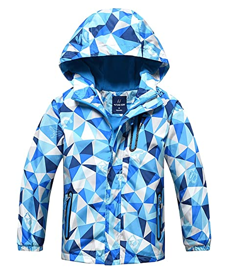 87eafb6f5 Amazon.com  HuTuHu Boys Girls Fleece Windbreaker Hooded Waterproof ...