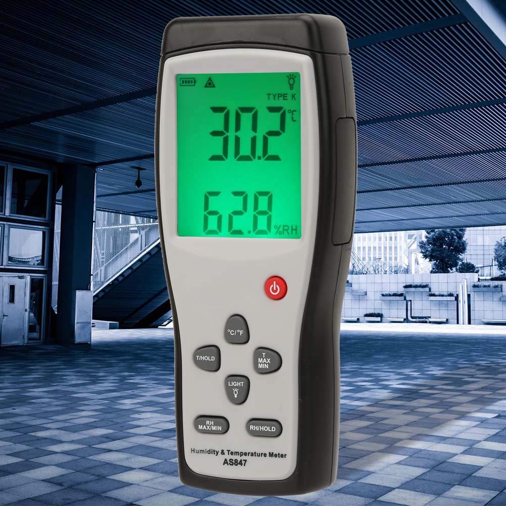 industriali Igrometro termometro digitale monitor di umidit/à e umidit/à per tenuta dati ad alta precisione mini sensore per misuratore di temperatura psicrometro LCD per prove di laboratorio
