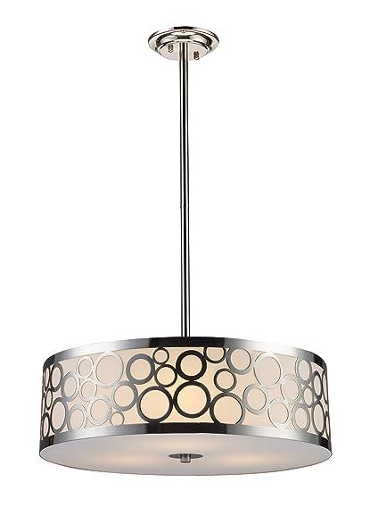 Elk 310253 retro via 3 light chandelier in polished nickel elk 310253 retro via 3 light chandelier in polished nickel aloadofball Images