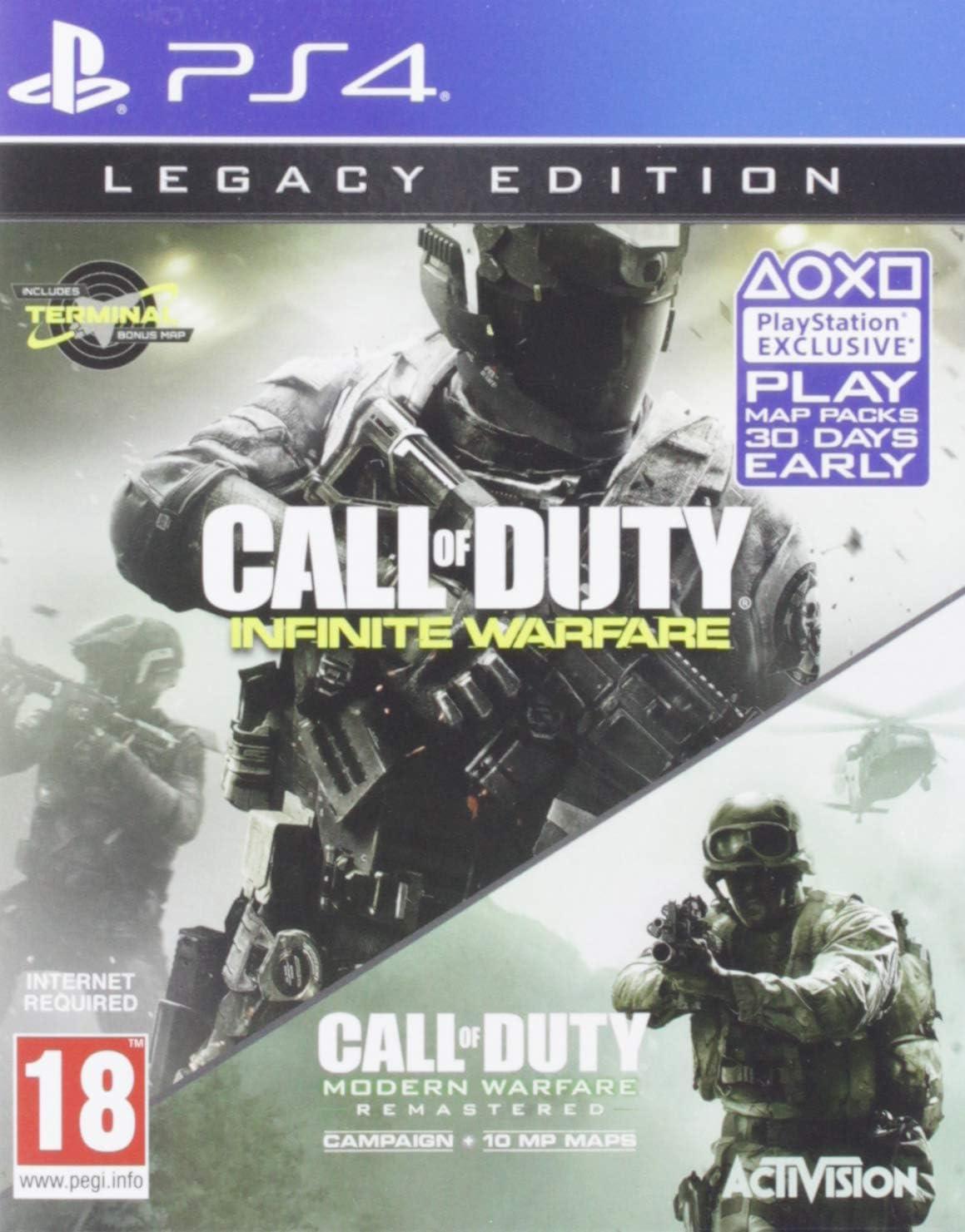 Activision Call of Duty: Infinite Warfare Legacy Edition, PS4 PlayStation 4 vídeo - Juego (PS4, PlayStation 4, FPS (Disparos en primera persona), Modo multijugador, M (Maduro)): Amazon.es: Videojuegos