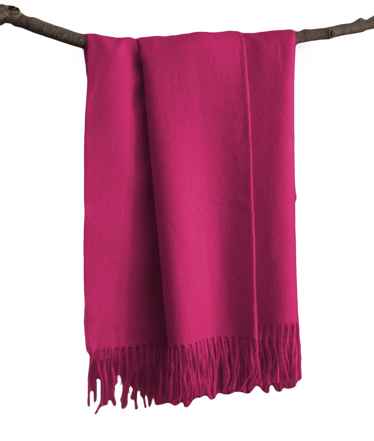 Premium Super Soft Alpaca Wool Hand Woven Throw Pink