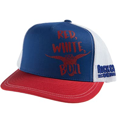 1b474127e2f Rock and Roll Cowboy Mens Dale Brisby Bull Cap OS Red White at ...
